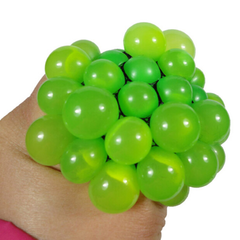 Funny toys5CM Antistress Face Reliever Grape Ball Autism Mood Squeeze Relief Healthy Toys Funny Geek Gadget