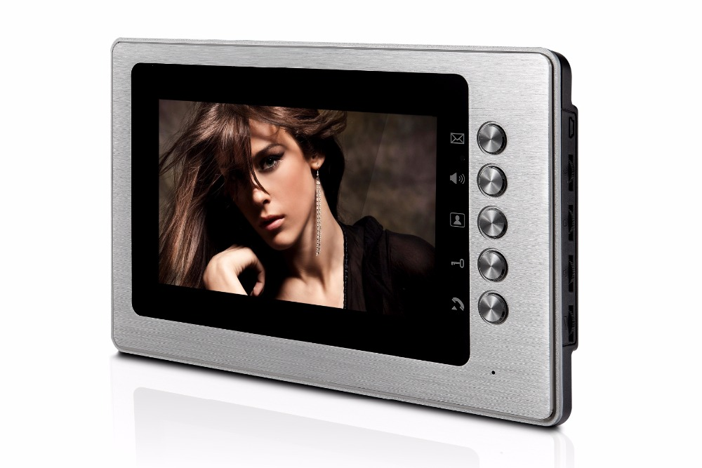 7 inch Two Way Intercom   LCD Monitor   For Wired Video Door Phone XLS-V70B aputure digital 7inch lcd field video monitor v screen vs 1 finehd field monitor accepts hdmi av for dslr