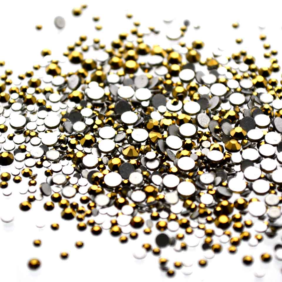 Crystals Gold Rhinestones for Nails Design Gems Strass Nail Art Decorations Ongle Glass Nail Charms Manicure Nailart MJZ1042 5 colors fish scale nail art sequins mermaid hexagon glitter rhinestones for nails for diy manicure nail art tips decorations
