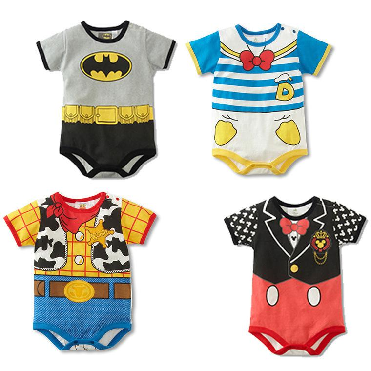 2017 Summer Style Short Sleeve Baby Rompers Cute Cartoon Baby Boy Clothes Cotton Newborn Baby Girl Clothing Costumes for Baby newborn baby girl rompers cute cartoon animal print clothes cotton long sleeve clothing set infant costumes baby boys clothes