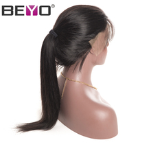 Beyo Pre Plucked Lace Front Human Hair Wigs Malaysian Straight Hair Wig With Baby Hair Non-Remy Hair 8-24 Inch Free Shipping