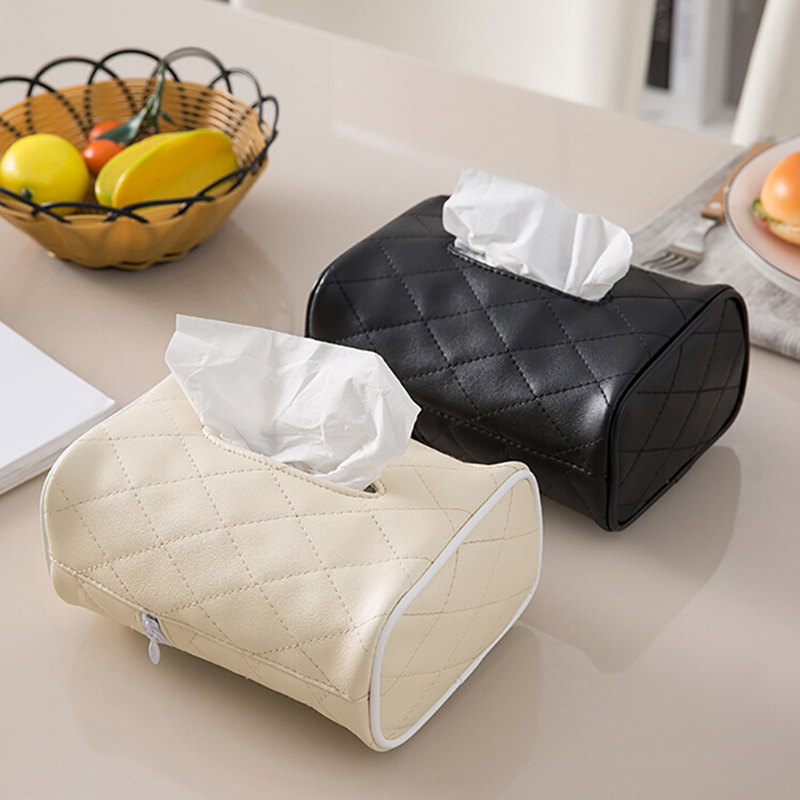 1 Pc Pu Leather Tissue Box Cover Servet Houder Kamer Auto Sofa Hotel Decoratieve Papier Container Case Zorgvuldige Verfprocessen