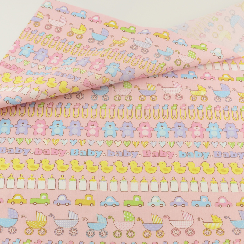Tela de algodón de alimentación del bebé tejidos acolchar bedding ropa patchwork