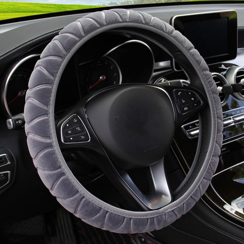 Car Covers Three-Dimensional Plush Elastic Type Car Steering Wheel Cover DIY Car Steering Wheel Cover
