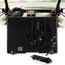 SLIVERYSEA 12V Car Air Conditioner 35W Black Portable Mini Cooling Fan Water Cooler #B1025