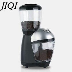 JIQI электрическая кофемолка, измельчитель итальянских кофейных зерен, мелкий фрезерный станок, лезвие из нержавеющей стали 110 В 220 В, ЕС, США