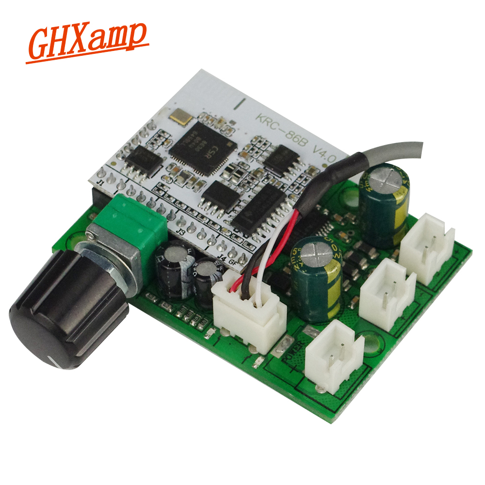 Ghxamp TPA3110 Bluetooth Amplifier Audio Board 15W+15W Amplifier PC Speaker Lossless DIY AUX Active Speakers jtron ta2024 dc 12v double track 15w 15w car pc hi fi mini digital amplifier board green