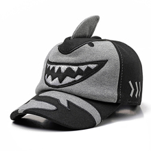 Los niños de invierno gruesa gorra de béisbol tiburón forma de invierno  sombrero del Snapback gorra de béisbol de algodón para n. e72fbb23217