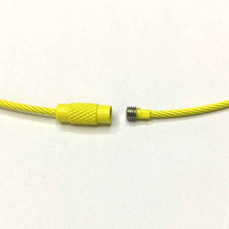 10 Pcs/lot coloré câble porte-clés vis boucle serrure porte-clés haute qualité en acier inoxydable bricolage accessoires acier livraison gratuite