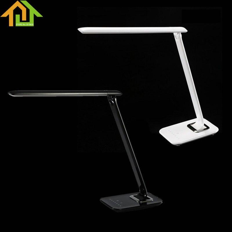 72 LED Adjustable Touch Luxury Desk Lamp Reading Light Dimmer Cool Warm  Flex USB