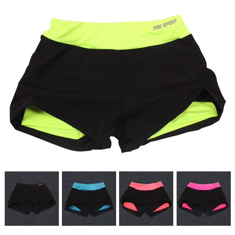 Sport Shorts Quick Drying Yoga Shorts For Women Workout Fitness Gym Running Sport Short Pant Female Elastic Waistband Sportswear
