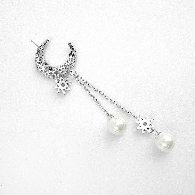 Atmospheric pearl ball micro encrusted ear clips Vintage female earrings Birthday gift CBA08