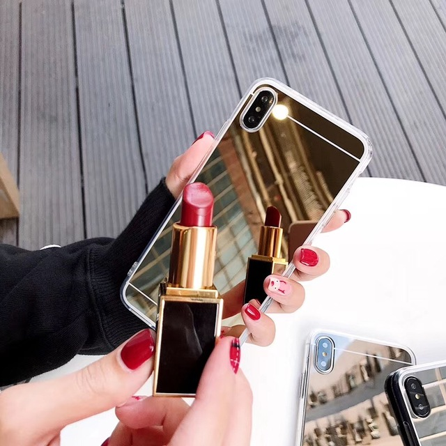 Para Apple iPhone 5C SE 5S 7 8 funda de lujo dorado espejo suave para iPhone 6 6 S 7 8 Plus XR X XS X MAX XS teléfono caso coque