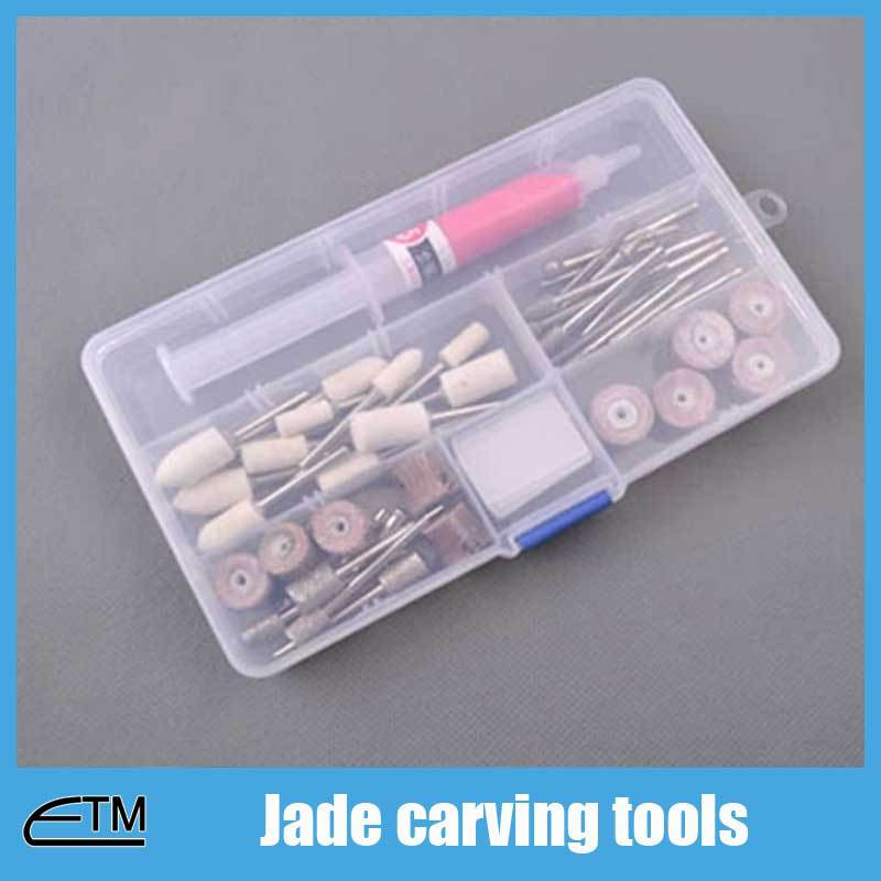 Jade carving tools set for dremel rotary diamond cutting disc drill head bits needle cylinder head etc TB002