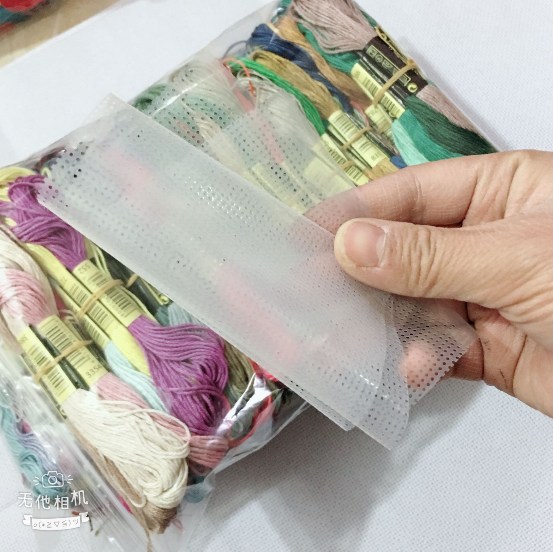 447  Colors Similar DMC Cotton Cross Stitch Embroidery Thread Floss One/two Labels+gift Water Soluble Canvas Magic Canvas 1