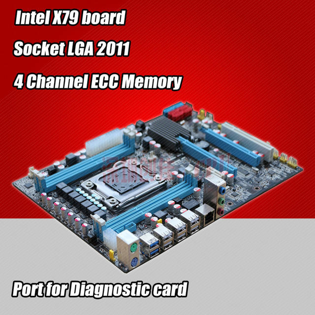 For Intel planform desktop motherboard new X79 board LGA 2011 support REG ECC server memory All solid boards x 79