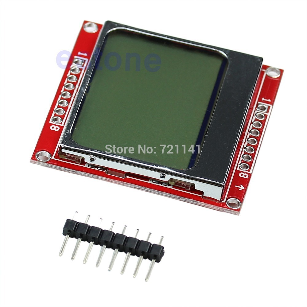 Nokia 5110 lcd module monochrome display screen 84 x 48 for arduino - Ootdty For Nokia 5110 For Arduino 48 84 48x84 Lcd Module White Backlight Adapter Pcb