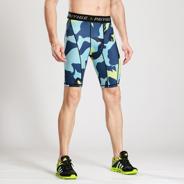 43b497c77b27d New Summer Outdoors Quick-dry Male Camouflage Fitness Running Tights Mens  Sport Leggings Shorts bodysuit