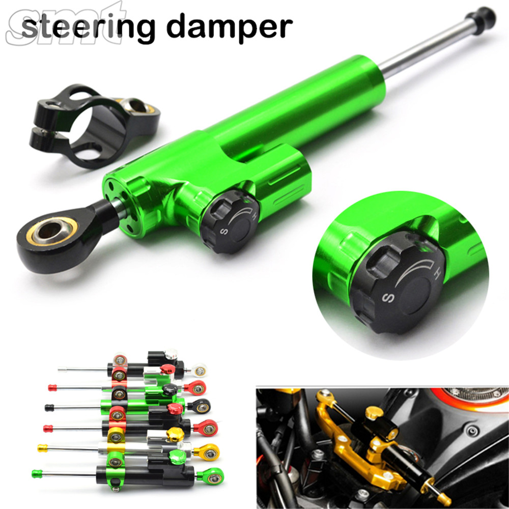Universal Motorcycle CNC Damper Steering Stabilizer Damper Linear Reversed Safety Control for suzuki vespa kawasaki z800 universal motorcycle damper steering stabilizer moto linear safety control for suzuki gsx1250fa sv650sf gsx650f katana 600 750