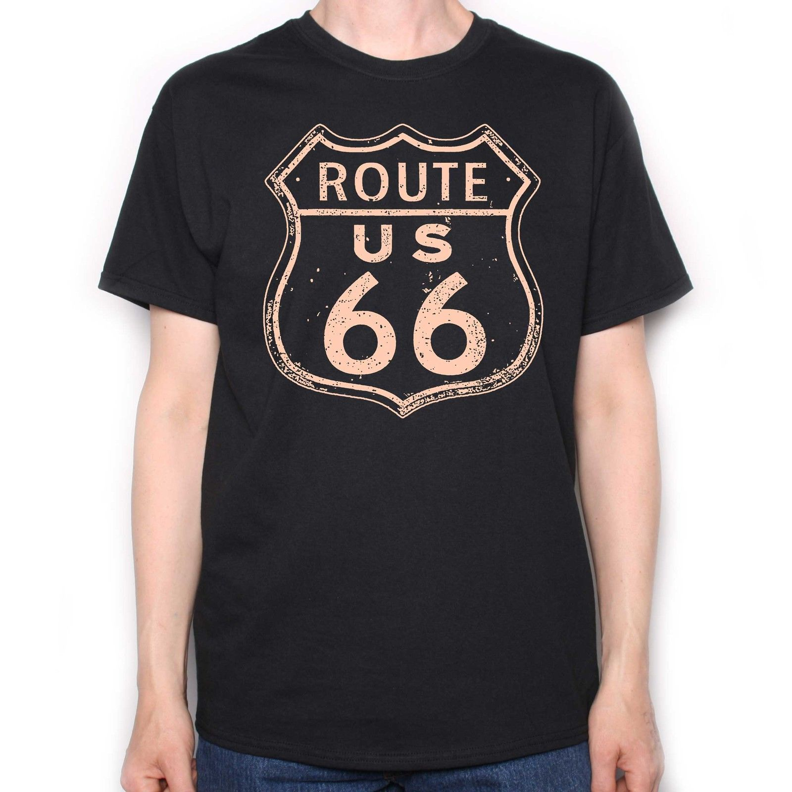 <font><b>ROUTE</b></font> <font><b>66</b></font> <font><b>T</b></font> <font><b>SHIRT</b></font> - MUSCLE CAR CUSTOM BIKE CHOPPER BOBBER CHEVY JAMES DEAN Summer Men'S fashion Tee,Comfortable <font><b>t</b></font> <font><b>shirt</b></font> image