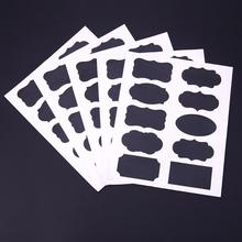 50pcs/Set Blackboard Sticker Craft Kitchen Jar Organizer Labels Glass Windows Chalkboard Blackboard Stationery Office Supplies