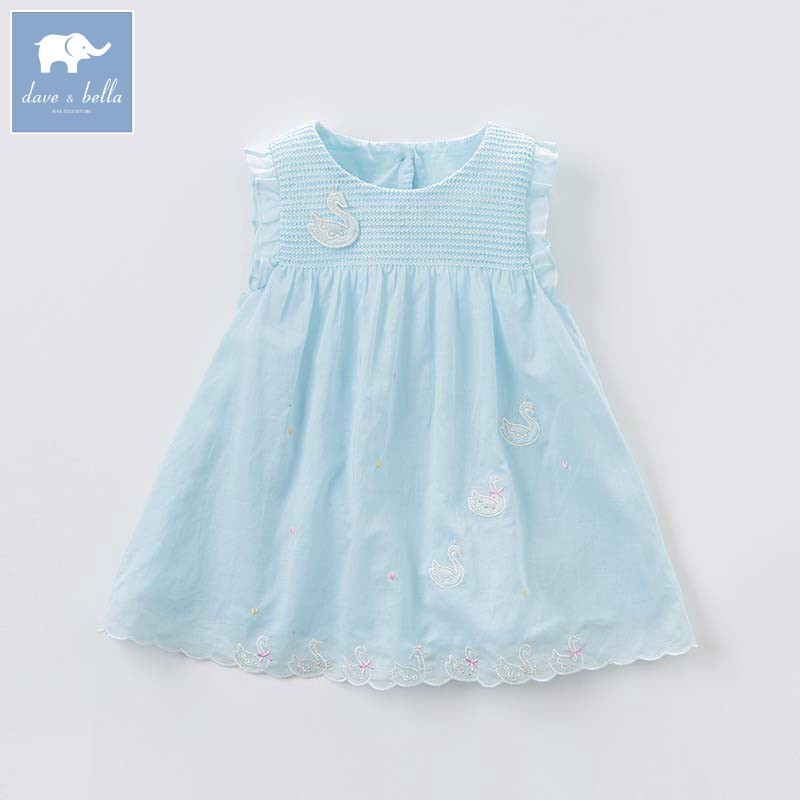 DBJ8050 dave bella baby dress girls infant toddler clothing children birthday party clothes kids summer Lolita dress db5708 dave bella baby girl lolita dress stylish printed dress toddler children dress