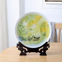Spring River Water Warm Duck Prophet Ceramic Plate Jingdezhen Zhang Ping's original hand painted Porcelain Plate