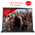 H40X Everyone Gain 40inch 16:9 Projector HD Screen Portable Folded Front  Fabric For Projection Screen with Eyelets Frame