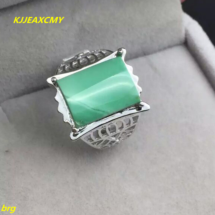 KJJEAXCMY Fine jewelry Hubei turquoise ring 925 sterling silver Platinum setting large men's plate ring retro fake turquoise multilayered toe ring anklet
