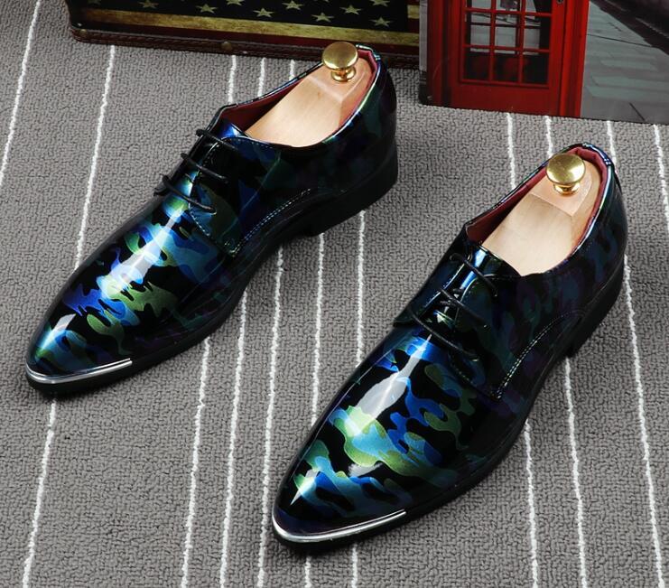 3 Designer 2 Casa Finalistas Cavalheiro Homens Luxo A Oxfords Impressão Regresso Casamento Sapatos 1 Camuflagem Baile Do Britânico Formal Masculinos De 2019 Couro d1fHxwfBq