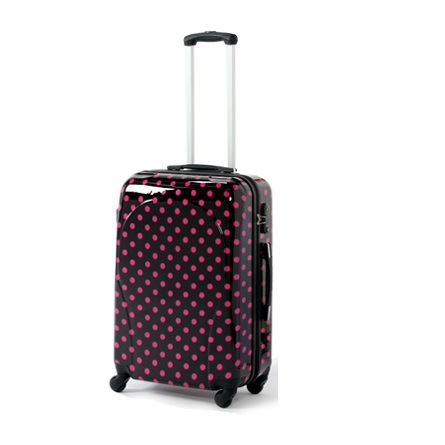 20'' 24'' Red point Polka Dot Spinner Trolley Rolling suitcase travel bag carry-on maleta valise koffer hardside luggage red white polka