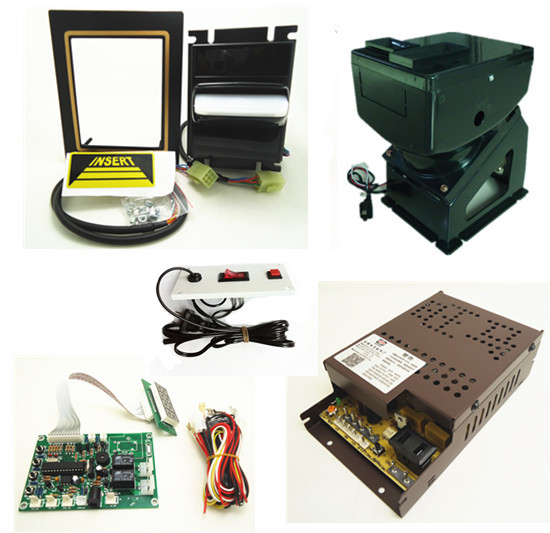 1 kit for 220V multi banknotes bill acceptor to coin token with control board 220V hopper for coin changer machine