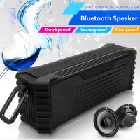 Bluetooth Hoparlörler, 20 W Gelişmiş Bas ile IPX6 Su Geçirmez Taşınabilir Kablosuz Hoparlör Handsfree Çift Sürücü Konuşmak için Mic Dahili