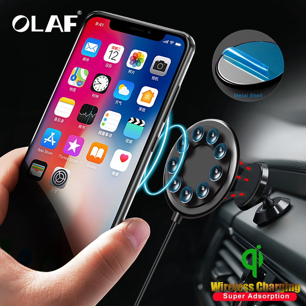 OLAF Spider Suction Cup Wireless Charger For iPhone XR XS Max Portable Fast Wireless charging For Samsung Note 9 8 S9+ S8 in Car
