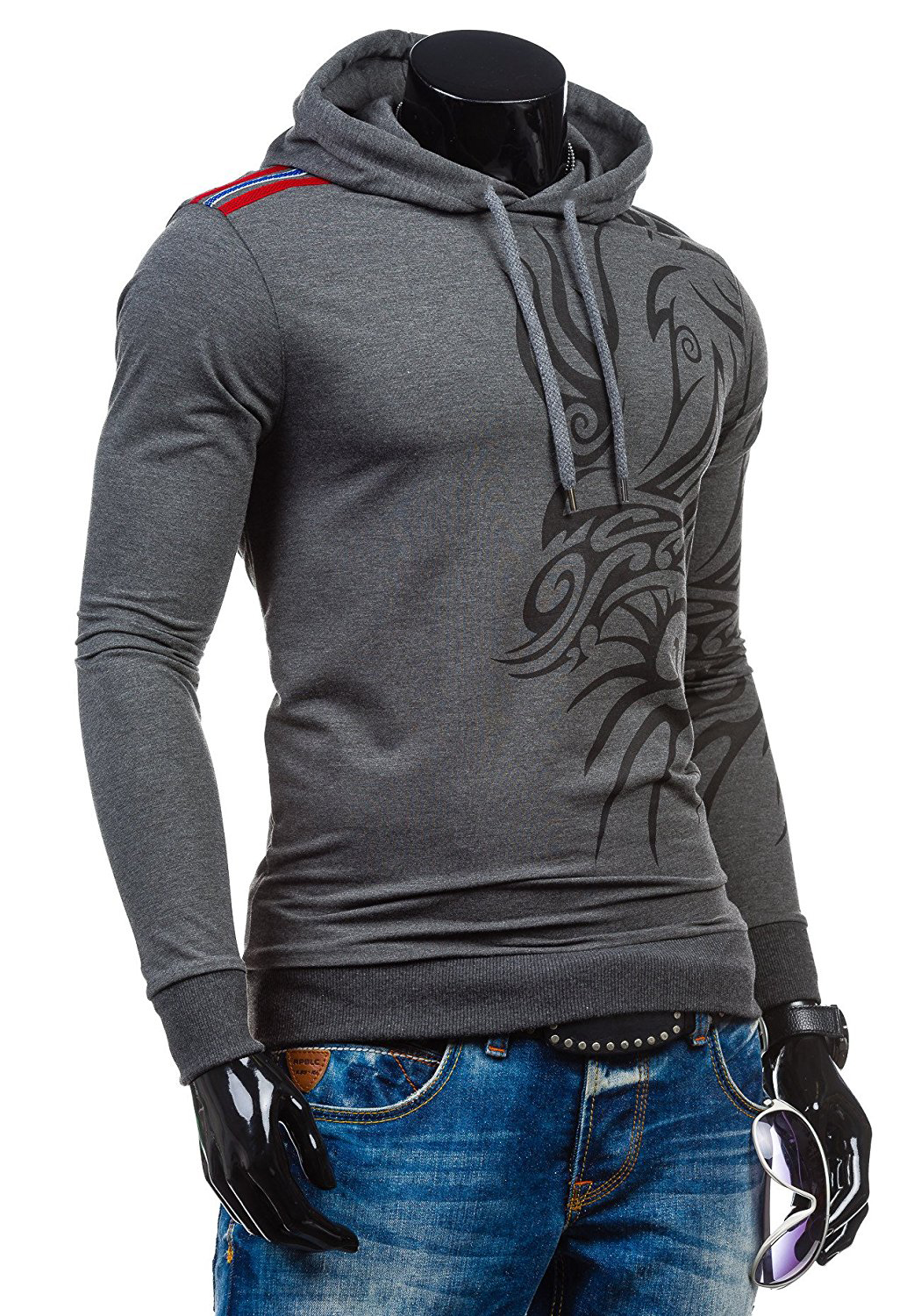 2017 Hoodies Men Hombre Hip Hop Mens Brand Letter Hooded Zipper Hoodie Sweatshirt Slim Fit Men Hoody Large Size 3XL Stylish Men's hoodies HTB18jZ gN3IL1JjSZPfq6ArUVXat