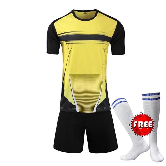 Camisas De Futebol da faculdade Dos Homens Personalizado Camisas De Futebol  Uniformes de Futebol Juvenil De 81003fbc8a772