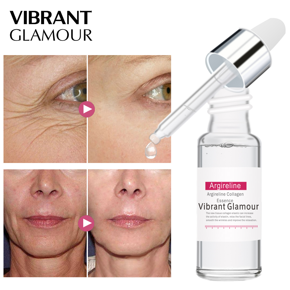 VIBRANT GLAMOUR Argireline Collagen Peptides Face Serum Cream Anti-Aging Wrinkle Lift Firming Whitening Moisturizing Skin Care 1