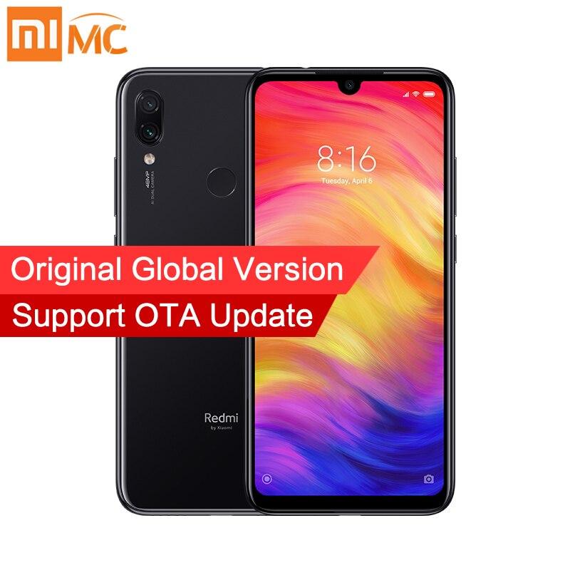 Global Versão Xiaomi Redmi Nota 7 3GB 32GB Telefones celulares Snapdragon 660 48MP + 13MP Dual Camera 6.3 ''Tela cheia 4000mAh CE FCC