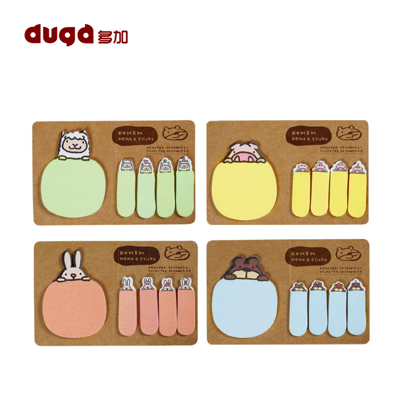 New Cute Kawaii Animal Korean Rabbit Sheep Stationery Memo Pad Scrapbooking StickyNotes Book Paper Sticker Bookmark Stick