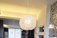 БЕСПЛАТНАЯ ДОСТАВКА Деревенский краткое натурального ротанга лампы подвесной светильник спальня лампа исследование свет Подвесные Светильники