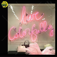 Neon Sign for Live Colorfully Neon Bulb sign handcraft gift glass tube light Decorate home room wall lamps display board sign