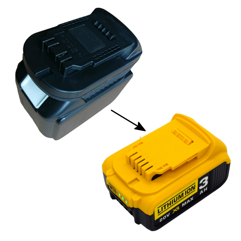 New Converter <font><b>Adapter</b></font> USB Charger For DeWalt Tool Convert <font><b>Makita</b></font> <font><b>18V</b></font> Li-ion Battery BL1830 BL1860 BL1815 to DCB200 image