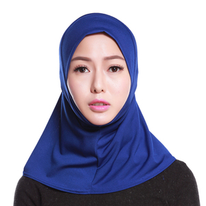 Image 4 - 2019 Fashion Women Hijab Neck Cover Scarf Bonnet Full Cover Inner Hijabs Cap Bone Lady Islamic Muslim Headwear Muslim Plain Cap