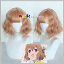 Anime Blend S Cosplay Wig Mafuyu Hoshikawa Girls Short Wavy Curly Synthetic Hair