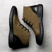 High Quality Genuine leather S Autumn Men Boots Winter Waterproof Ankle