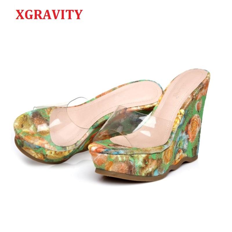 XGRAVITY New 2020 Summer High Heel