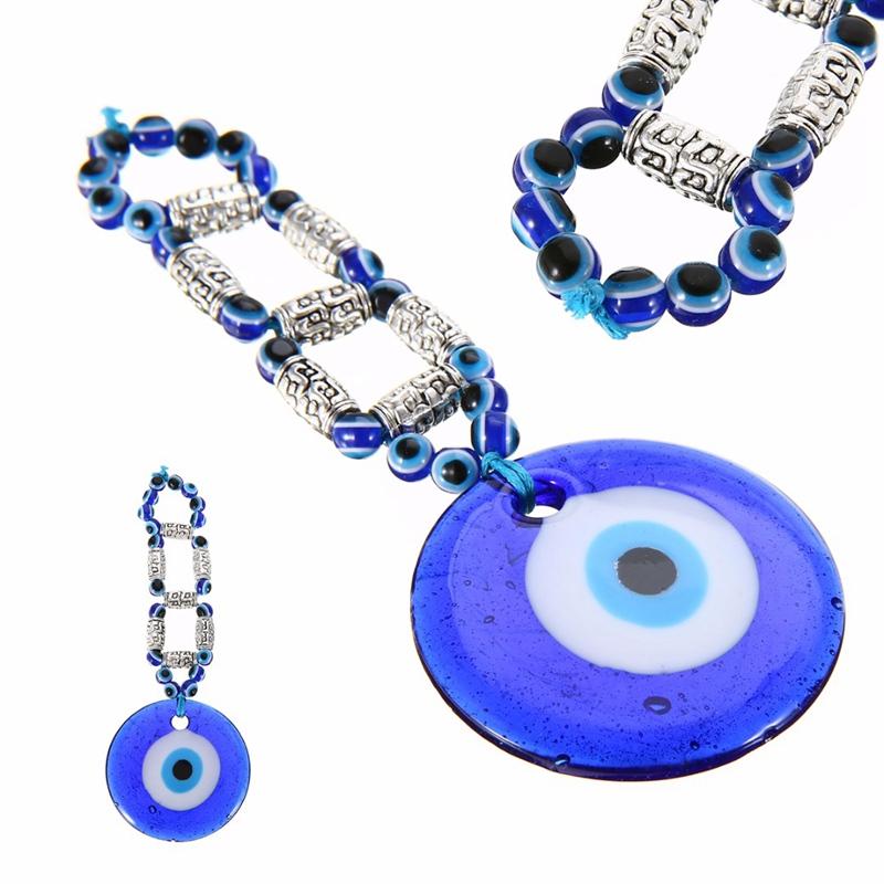 212aab7174735 Mayitr Azul Contas de Vidro Parede Pendurado Amuleto Turco Grego Olho Do  Mal Charme Pingente de
