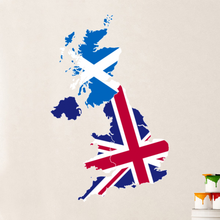 United Kingdom Map Globe Earth Country Wall Vinyl Sticker Custom Made Home Decoration Fashion Design Pvc Removable