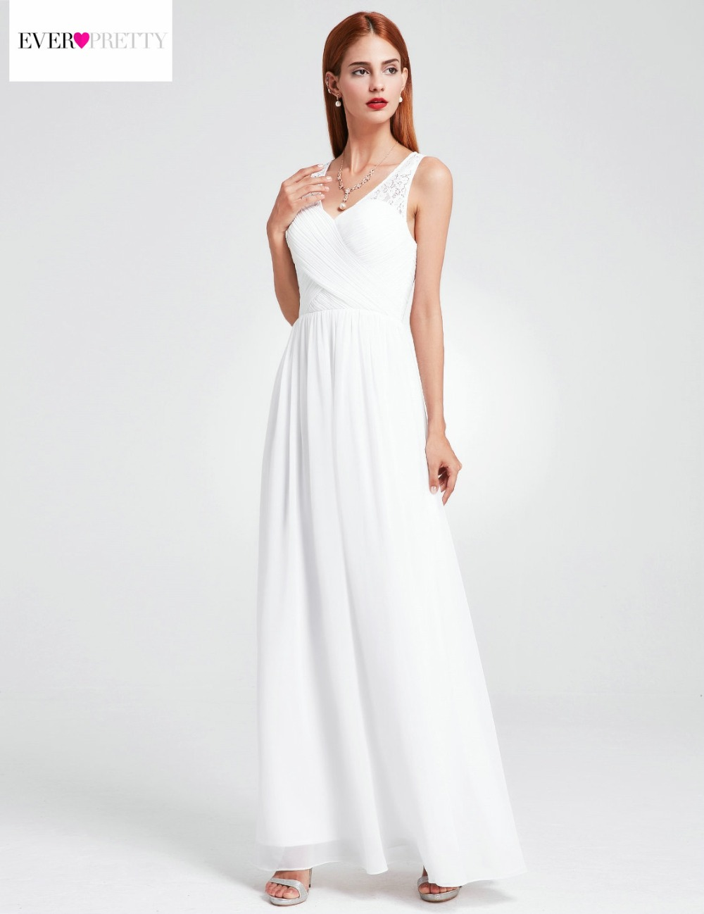 127b8bc0584 Simple A Line Beach Wedding Dresses