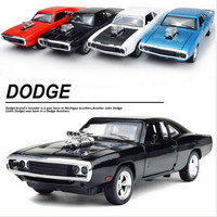1 32 Scale Fast And Furious Model Car Alloy Dodge Charger Pull Back Toy Cars Diecast